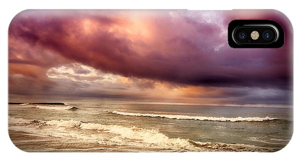 IPhone Case featuring the photograph Dramatic Beach by David Millenheft