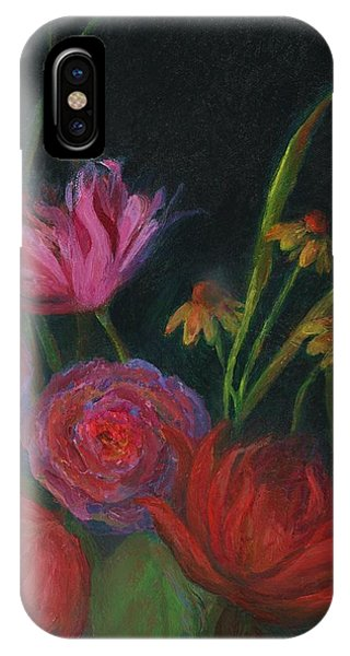 Dramatic Floral Still Life Painting IPhone Case