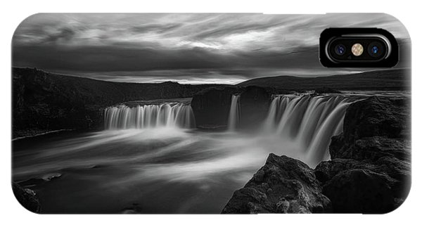 Flow iPhone Case - Dramatic Godafoss by Saskia Dingemans