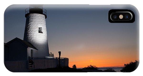 Dramatic Lighthouse Sunrise IPhone Case