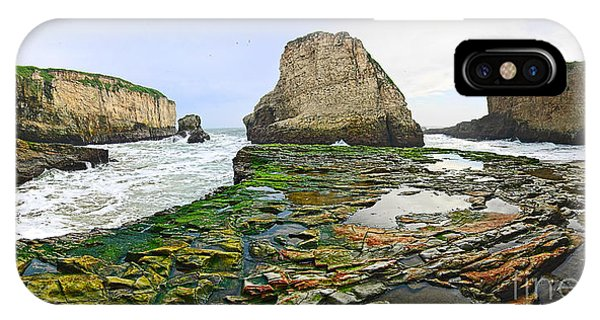 Dramatic Panoramic View Of Shark Fin Cove IPhone Case