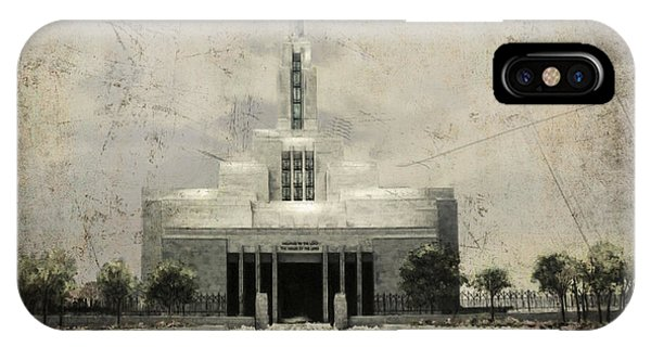 Draper Temple Stand In Holy Places Antique IPhone Case