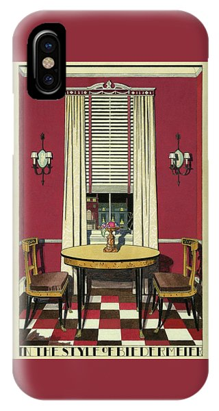Drawing Of A Breakfast Room IPhone Case