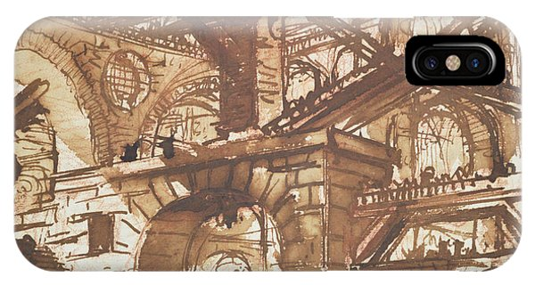 Dungeon iPhone Case - Drawing Of An Imaginary Prison by Giovanni Battista Piranesi
