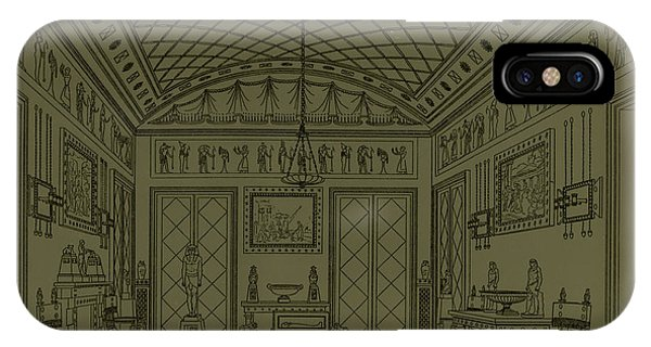 Fireplace iPhone Case - Drawing Room With Egyptian Decoration by