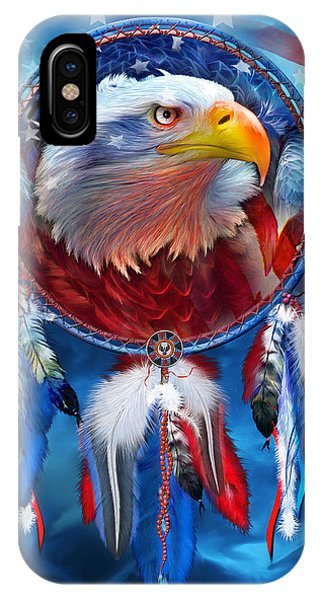 Dream Catcher - Eagle Red White Blue IPhone Case