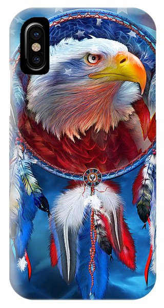 Dream Catcher - Eagle Red White Blue IPhone Case