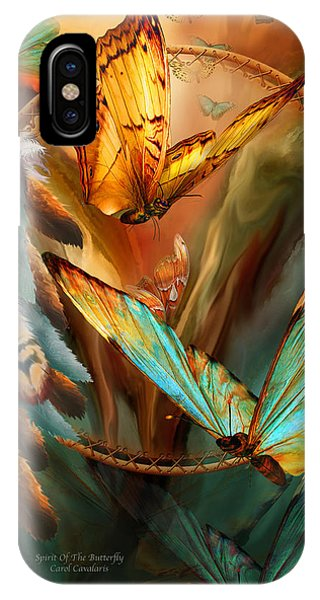 Dream Catcher - Spirit Of The Butterfly IPhone Case