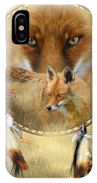 Dream Catcher- Spirit Of The Red Fox IPhone Case