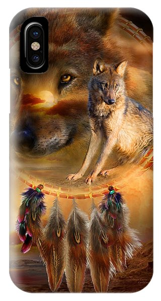 Native iPhone Case - Dream Catcher - Wolfland by Carol Cavalaris