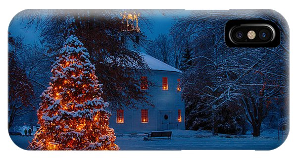 Christmas At The Richmond Round Church IPhone Case