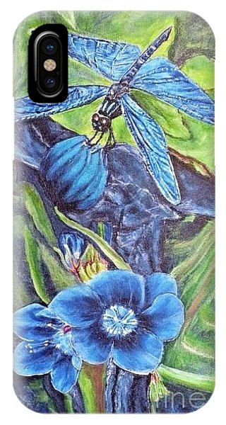 Dream Of A Blue Dragonfly IPhone Case