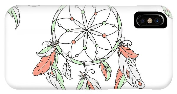 Ornamental iPhone Case - Dreamcatcher, Feathers. Vector by Laata9