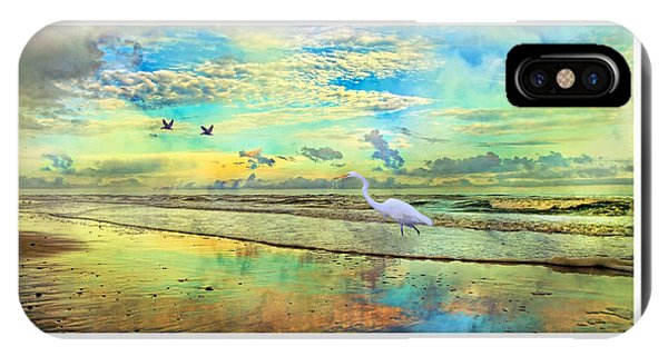 Dreaming Along The Coast -- Egret  IPhone Case