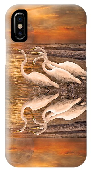 Dreaming Of Egrets By The Sea Reflection IPhone Case