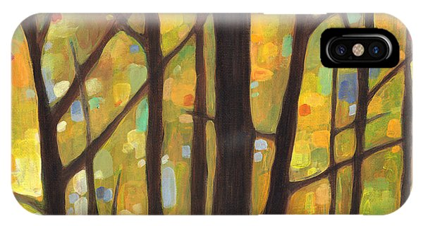 Autumn iPhone X Case - Dreaming Trees 1 by Hailey E Herrera
