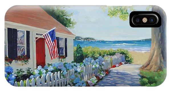 White Fence iPhone Case - Dreamscape by Laura Lee Zanghetti
