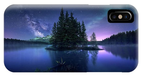 Banff iPhone Case - Dreamy Night by Jes??s M. Garc??a