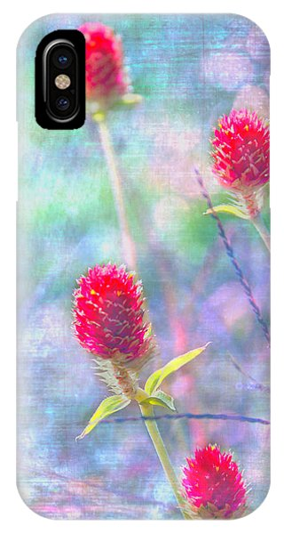 Dreamy Red Spiky Flowers Phone Case by Karen Stephenson