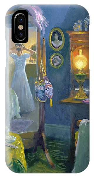 Dressing iPhone Case - Dressing Room Victorian Style Oil On Board by William Ireland