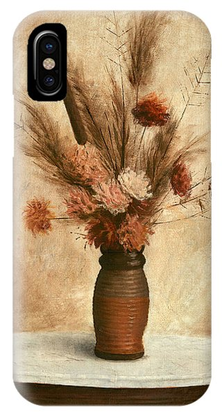 IPhone Case featuring the painting Dried Flower Arrangement by G Linsenmayer