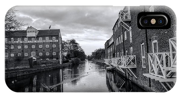 Driffield Refurbished Canal Basin IPhone Case