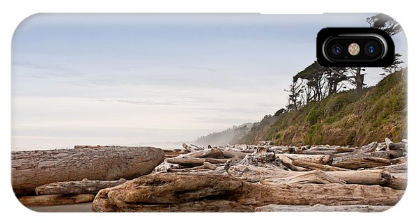 Drift Logs Tossed Like Pick-up Sticks Upon Pacific Coast Beach IPhone Case