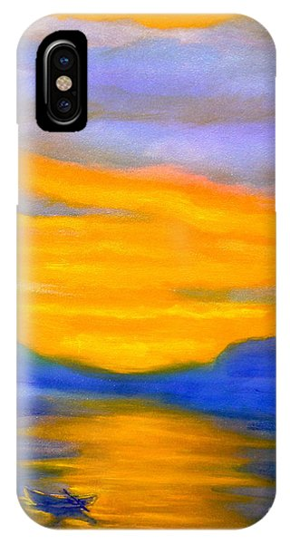 Drifting At Sunset Phone Case by Nancy Rucker