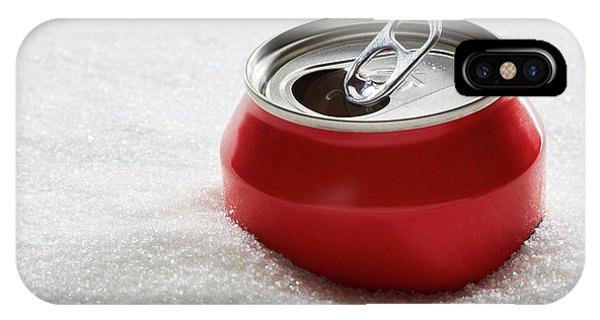 Drinks Can In Sugar Phone Case by Kevin Curtis/science Photo Library
