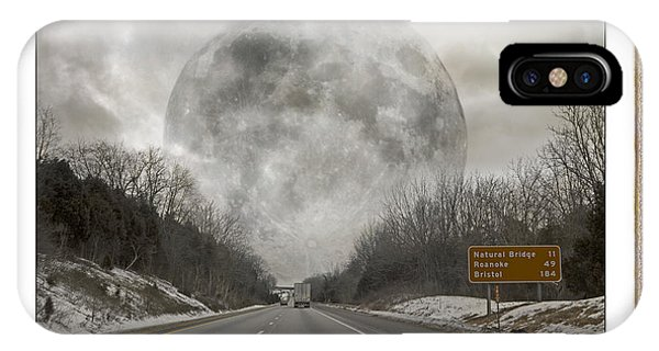 Moon iPhone Case - Drive  by Betsy Knapp