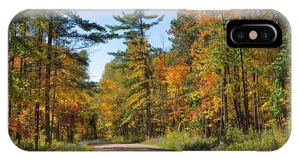Drive Through Splendor In Minnesota IPhone Case