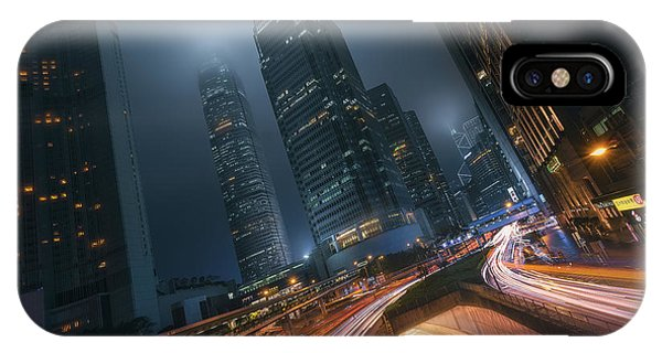 Skyscraper iPhone Case - Driving Hong Kong by Javier De La