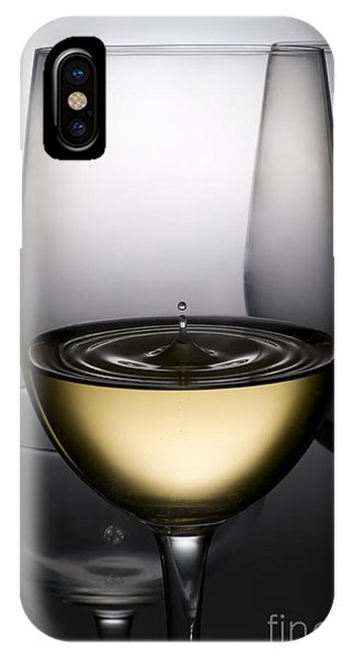 Beverage iPhone Case - Drops Of Wine In Wine Glasses by Setsiri Silapasuwanchai