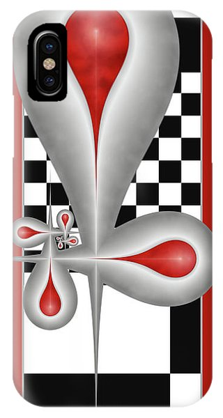 Drops On A Chess Board IPhone Case