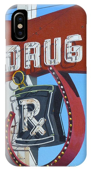 Neon iPhone Case - Drug by Michael Ward
