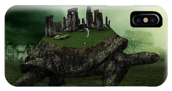 Turtle iPhone X Case - Druid Golf by Marian Voicu