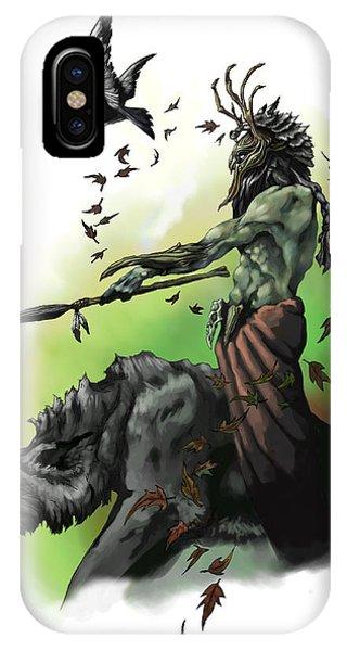 Dungeon iPhone Case - Druid by Matt Kedzierski