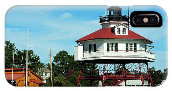 Drum Point Lighthouse IPhone Case