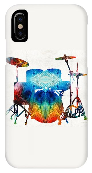 Drum iPhone Case - Drum Set Art - Color Fusion Drums - By Sharon Cummings by Sharon Cummings