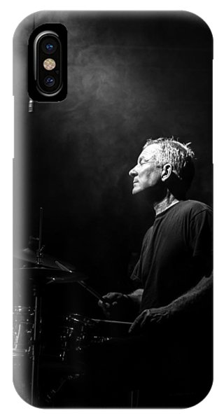 Drum iPhone Case - Drummer Portrait Of A Muscian by Bob Orsillo