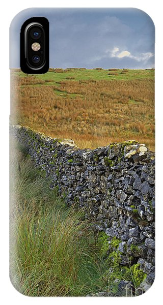 Dry Stone Wall Yorkshire Dales Uk IPhone Case