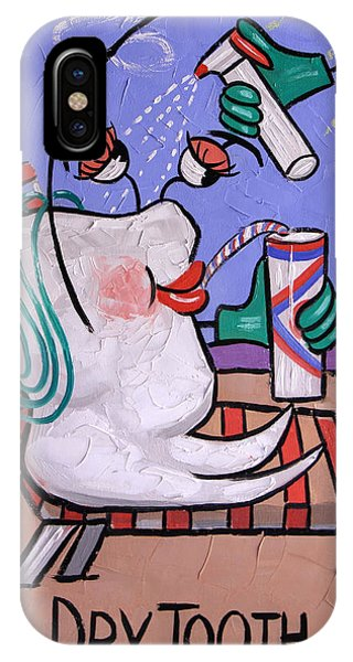 IPhone Case featuring the painting Dry Tooth Dental Art By Anthony Falbo by Anthony Falbo