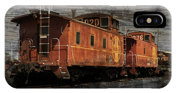 Red Caboose iPhone Case - Dual Cabooses by Robert Ball