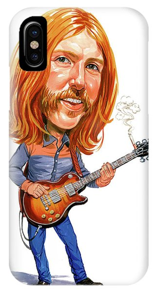 Music iPhone Case - Duane Allman by Art