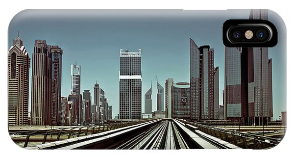 Track iPhone Case - Dubai Metro by Naufal