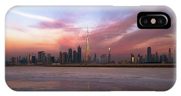 Tower iPhone Case - Dubai Skyline by Zohaib Anjum