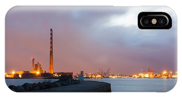Dublin Port At Night IPhone Case