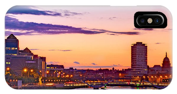 IPhone Case featuring the photograph Dublin Skyline At Dusk / Dublin by Barry O Carroll