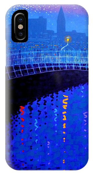 Cobalt Blue iPhone Case - Dublin Starry Nights by John  Nolan