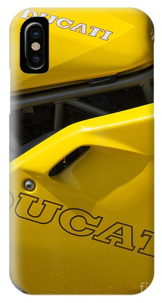 Fare iPhone Case - Ducati Desmodue Motorcycle  by Tim Gainey